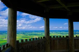 嵐山展望台から見た十勝平野の写真素材 [FYI04571458]