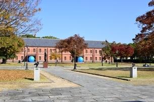 青空の姫路市立美術館の写真素材 [FYI04572581]