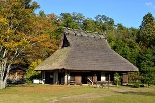 京都,日吉町郷土資料館,移築した古民家の写真素材 [FYI04572607]