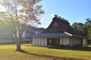 京都,日吉町郷土資料館,移築した古民家の写真素材 [FYI04572611]