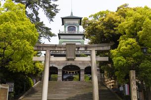 尾山神社 神門の写真素材 [FYI04572873]