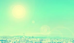 あべのハルカスと大阪市街の写真素材 [FYI04573124]