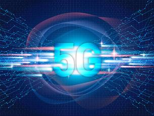 テクノロジー 抽象的 宇宙 サイバー 技術 背景 未来 青 5G 高速通信 のイラスト素材 [FYI04573775]