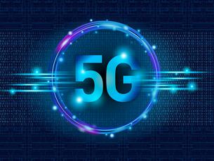 テクノロジー 抽象的 宇宙 サイバー 技術 背景 未来 青 5G 高速通信 のイラスト素材 [FYI04573784]