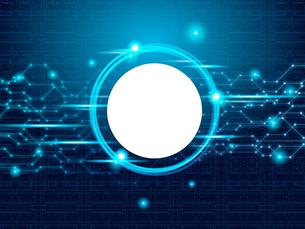 テクノロジー 抽象的 宇宙 サイバー 技術 背景 未来 青のイラスト素材 [FYI04573786]