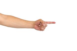 中年男性の手 指さしポーズの写真素材 [FYI04573914]