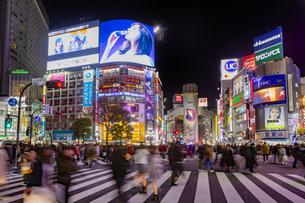 東京都 渋谷センター街の夜景 の写真素材 [FYI04574378]