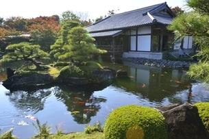 紅葉の好古園,御屋敷の庭の写真素材 [FYI04575112]