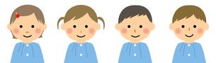 スモックを着た園児達のイラスト素材 [FYI04575850]