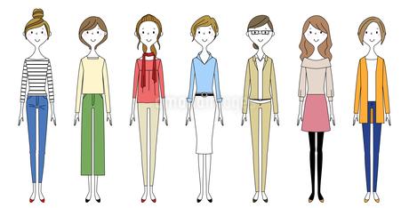 女性達のイラスト素材 [FYI04576054]