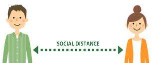 ソーシャルディスタンス 社会的距離のイラスト素材 [FYI04576091]