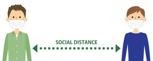 ソーシャルディスタンス 社会的距離のイラスト素材 [FYI04576092]