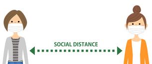 ソーシャルディスタンス 社会的距離のイラスト素材 [FYI04576094]