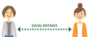 ソーシャルディスタンス 社会的距離のイラスト素材 [FYI04576095]