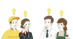 働く人達-笑顔・ひらめきのイラスト素材 [FYI04576366]