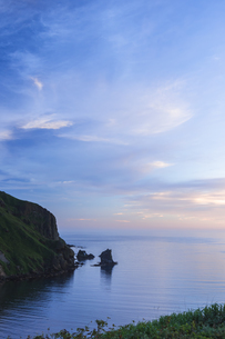 礼文島に浮かぶ奇岩・猫岩の写真素材 [FYI04576475]