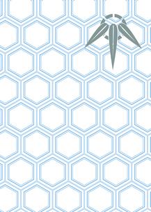 年賀状、結婚式などに使える亀甲柄に竹の模様をあしらった和柄背景素材のイラスト素材 [FYI04576956]