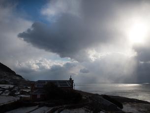 長崎県 小値賀町 雪の旧野首教会の写真素材 [FYI04577412]