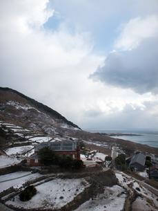 長崎県 小値賀町 雪の旧野首教会の写真素材 [FYI04577414]