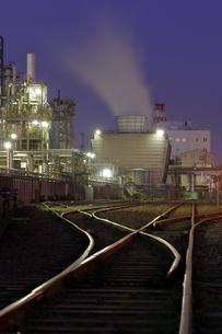 川崎の工場夜景の写真素材 [FYI04577461]