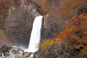 11月 紅葉の苗名の滝  -甲信越の滝-の写真素材 [FYI04577814]