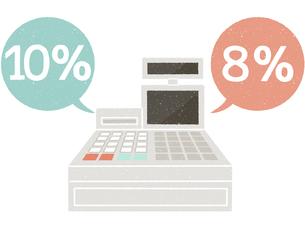 レジ-消費税のイラスト素材 [FYI04578088]