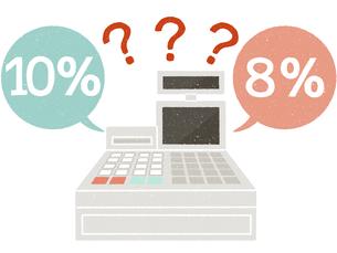 レジ-消費税-はてなのイラスト素材 [FYI04578089]