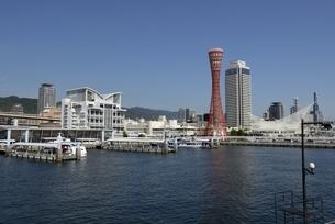 神戸,ハーバーランドモザイクからの神戸港の写真素材 [FYI04578394]