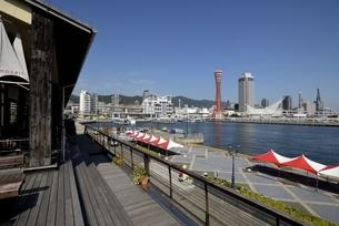 神戸,ハーバーランドモザイクからの神戸港の写真素材 [FYI04578407]