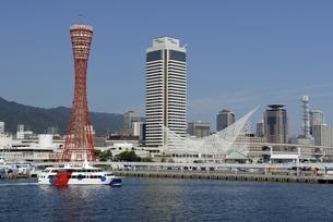 神戸,ハーバーランドモザイクから神戸港の写真素材 [FYI04578415]