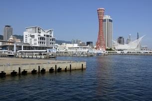 神戸,ハーバーランドモザイクから神戸港の写真素材 [FYI04578429]
