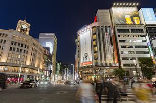 東京都 中央区 銀座 銀座の夜景  の写真素材 [FYI04578803]