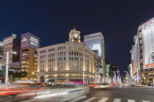 東京都 中央区 銀座 銀座の夜景  の写真素材 [FYI04578805]
