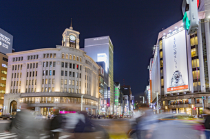 東京都 中央区 銀座 銀座の夜景の写真素材 [FYI04578807]