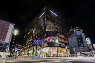 東京都 中央区 銀座 銀座の夜景  の写真素材 [FYI04578814]