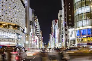 東京都 中央区 銀座 銀座の夜景  の写真素材 [FYI04578817]