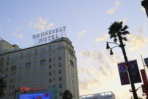 ハリウッドの象徴的なビルの写真素材 [FYI04579775]