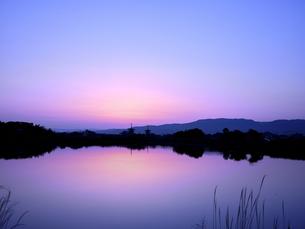 薬師寺の日の出の写真素材 [FYI04579844]