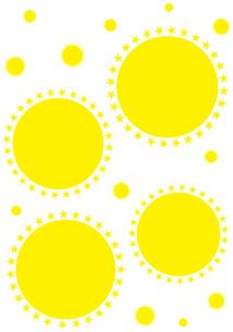 飛沫とウイルスのイメージのシンプルなデザインのフレーム イラストのイラスト素材 [FYI04580150]