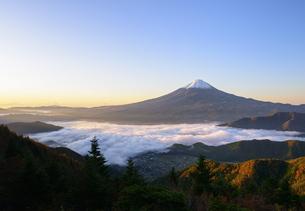 山梨県 大雲海に浮かぶ富士山の写真素材 [FYI04581538]