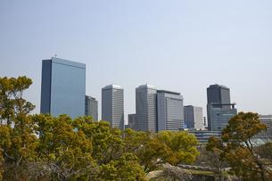 大阪大阪ビシネスパークの高層ビル群の写真素材 [FYI04581660]