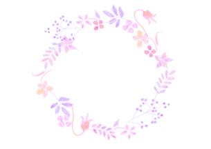 花の飾り罫のイラスト素材 [FYI04581993]