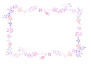 花の飾り罫のイラスト素材 [FYI04581994]