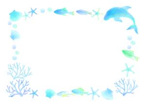 海の飾り罫のイラスト素材 [FYI04581999]