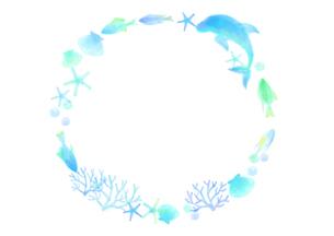 海の飾り罫のイラスト素材 [FYI04582000]