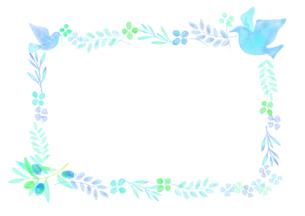 平和イメージの飾り罫のイラスト素材 [FYI04582002]