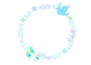 平和イメージの飾り罫のイラスト素材 [FYI04582003]
