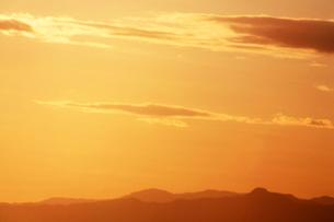 空・黄金色に染まる朝の写真素材 [FYI04582018]
