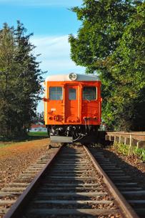 幸福駅(旧国鉄広尾線)の保存車両(キハ22形気動車)の写真素材 [FYI04582347]