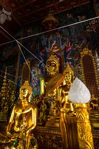 タイ 黄金の仏像の写真素材 [FYI04583198]